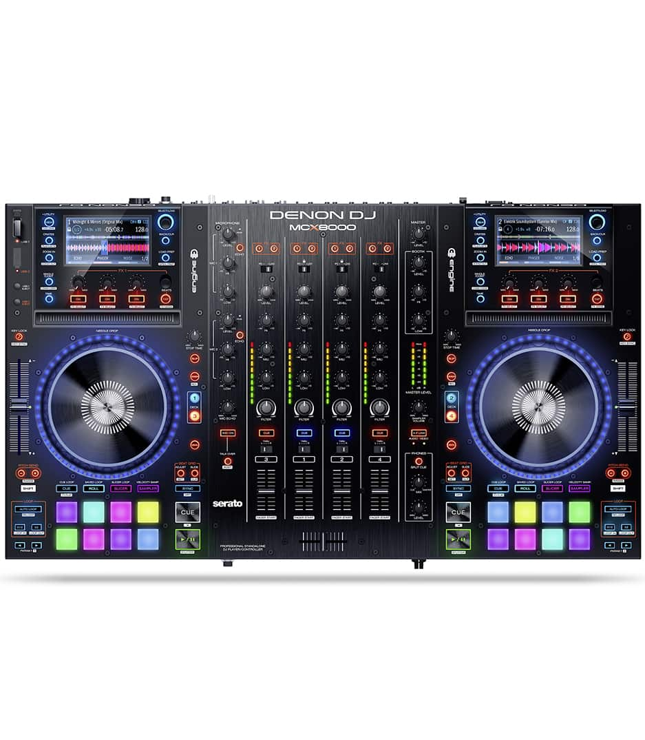 Denon DJ - MCX8000 media player and Serato DJ controller - Melody House Musical Instruments