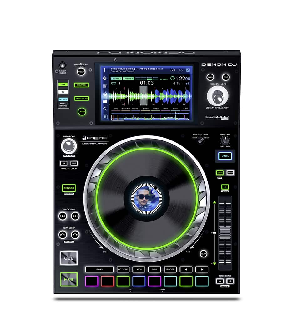 Denon DJ - SC5000 PRIME Professional DJ Media Player - Melody House Musical Instruments