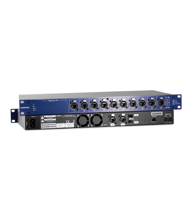 LU 01 00038 POE GigaCore 14R with PoE supply