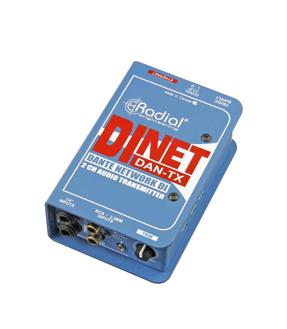 R800106200 Dante ethernet transmitter stereo DI in