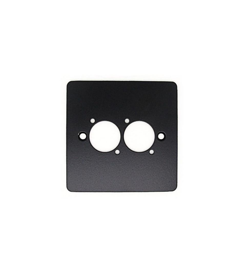 630 056 022 Single gang inc 2 D type XLR cutout bl